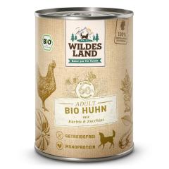 Bild von Artikel Wildes Land Bio Huhn mit Kürbis & Zucchini  400g Dose