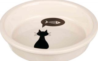 Bild von Artikel Napf Katze/Fisch, keramik  13cm weiß