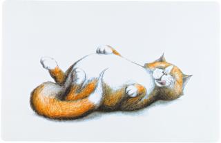 Bild von Artikel Napfunterlage dicke Katze 44x28cm weiß