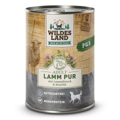 Bild von Artikel Wildes Land Lamm PUR mit Distelöl 400g Dose