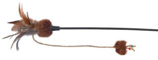 Bild von Artikel Spielangel mit Plüsch und Federn 54 cm